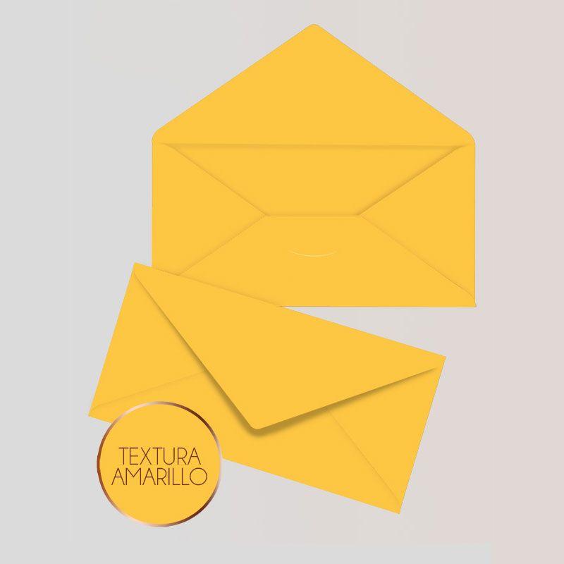 Sobres Para Invitaciones Americano Color Amarillo