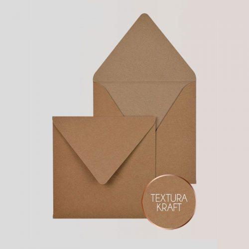 Sobres cuadrados para Invitaciones Kraft