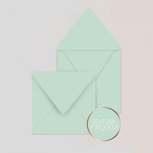 Sobres cuadrados para Invitaciones Color Turquesa