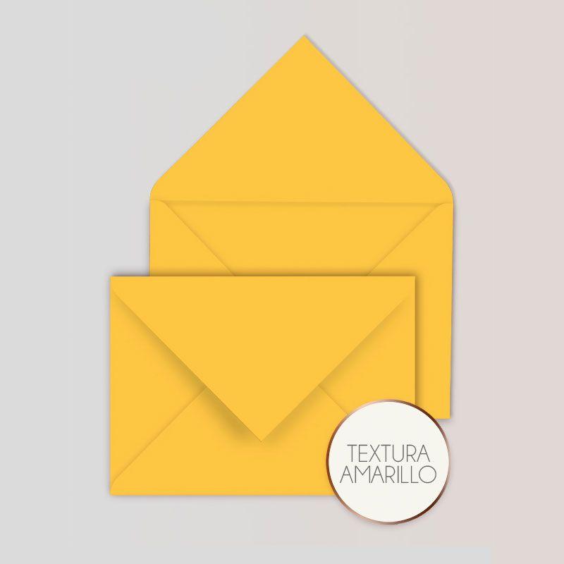 Sobres para Invitaciones Color Amarillo