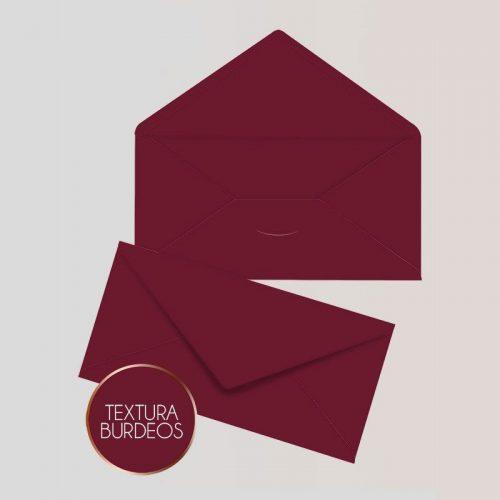 Sobres para Invitaciones Americano color Burdeos