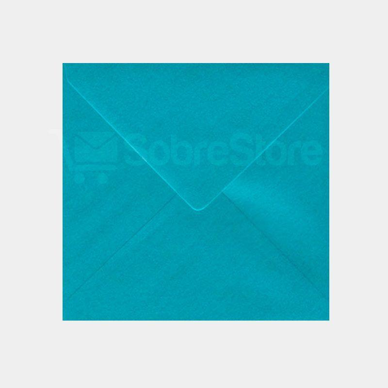 Sobres Cuadrados color Azul Turquesa