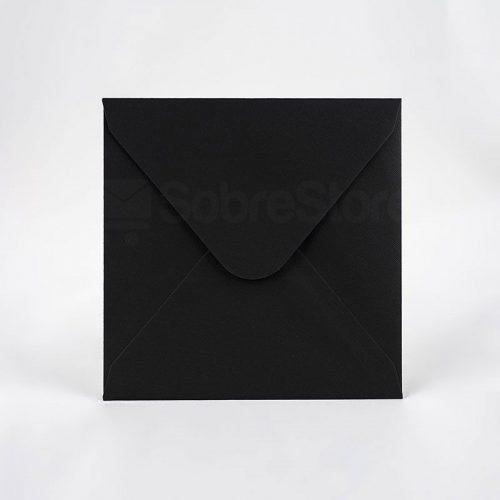 Sobres para Invitaciones de boda 165x165 Nettuno Negro
