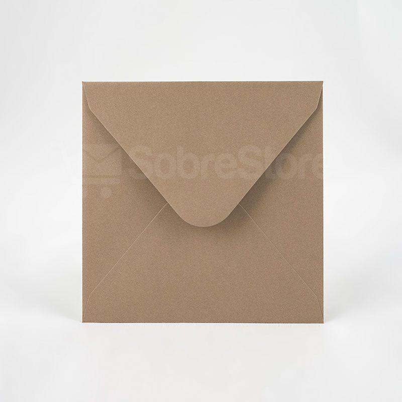 Sobres para invitaciones de Boda 165x165 Reciclados Noce