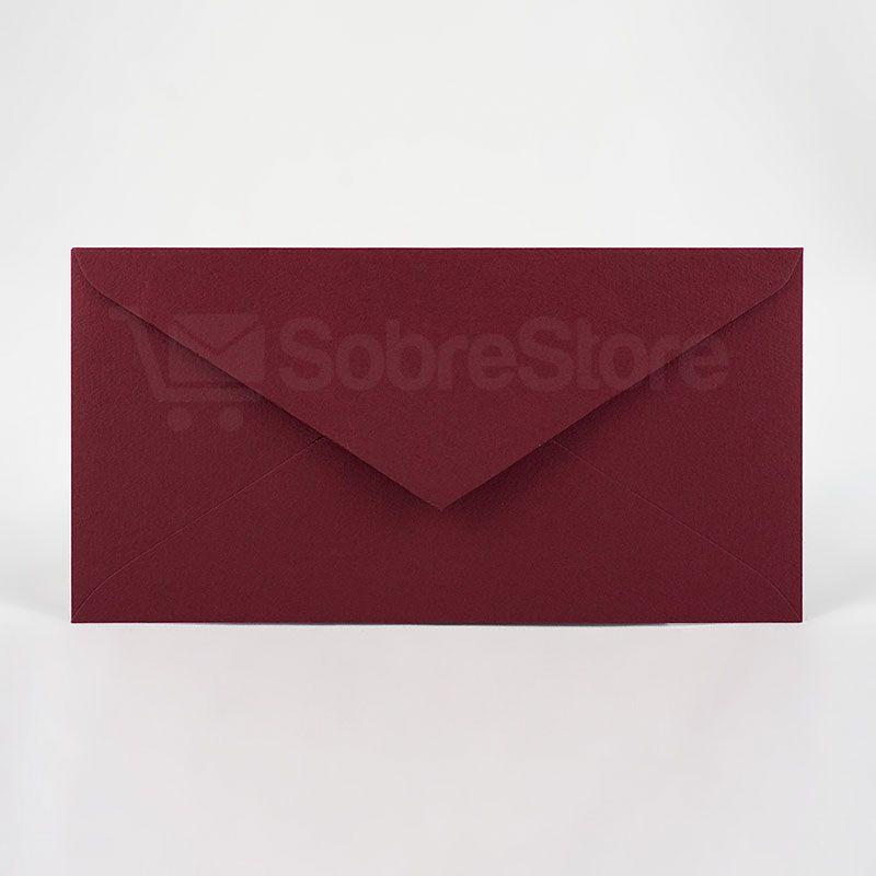 Sobres para Invitaciones de boda 115x225 Burdeos