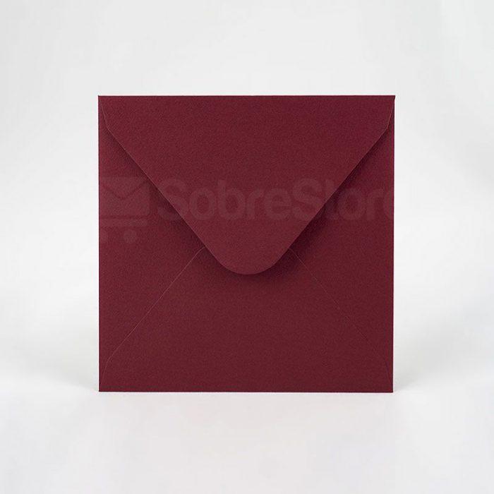 Sobres para Invitaciones de boda 165x165 Burdeos
